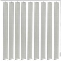 Made To Measure Fabric Vertical Blinds - Light Grey