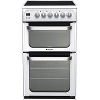 Hotpoint Ultima Hue52Ps 50Cm Double Oven Electric Cooker - White