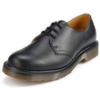Dr Martens 3 Eyelet Mens Shoes, Black, Size 6, Men