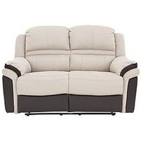 Petra Fabric And Faux Leather 2 Seater Manual Recliner Sofa