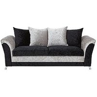 Product photograph showing Zulu 3-seater Fabric Sofa