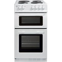 Swan Sx2011W 50Cm Wide Freestanding Twin Cavity Electric Cooker - White
