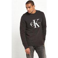 Calvin Klein Jeans Reissue Logo Sweatshirt, Black, Size L, Men