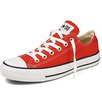 Converse Chuck Taylor All Star Ox Plimsolls, Red, Size 10, Women