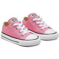 Converse Chuck Taylor All Star Ox Core Infant Trainer, Pink, Size 5