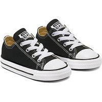 Converse Chuck Taylor All Star Ox Core Infant Trainer, Black/White, Size 4