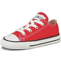 Converse Chuck Taylor All Star Ox Core Infant Trainer, Red, Size 8