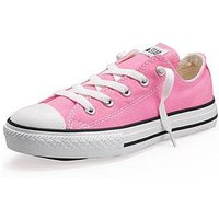 Converse Chuck Taylor All Star Ox Core Childrens Trainer, Pink, Size 12