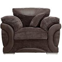 Maze Fabric and Faux Leather Chair