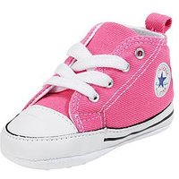 Converse Chuck Taylor All Star First Star Hi Core Crib Trainer, Pink, Size 4