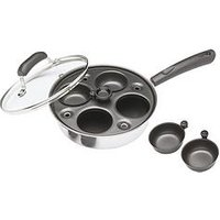 Kitchen Craft Carbon Steel Four Hole Egg Poacher