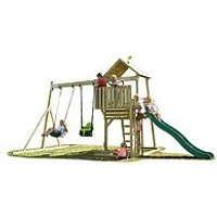 Tp Kingwood Tower Set With Swing Arm &Amp; Wavy Slide