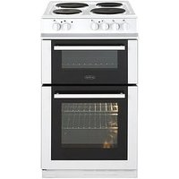 Belling Belling Fs50Et Twin Cavity 50Cm Electric Cooker - White - Cooker Only