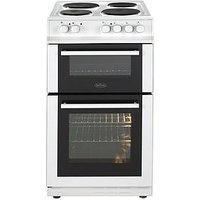 Belling Fs50Efdo 50Cm Double Oven Electric Cooker Wit Optional Connection - White - Cooker With Connection