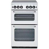 New World New World 500Tsidl 50Cm Twin Cavity Gas Cooker - White - Cooker Only