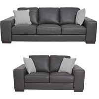 Sandy 3-Seater + 2-Seater Premium Leather Sofa Set (Buy And Save!)