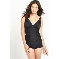 V by Very Controlwear Essential Tankini Set, Black, Size 20, Women