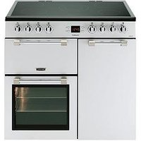 Leisure Ck90C230S Cookmaster 90Cm Electric Range Cooker With Ceramic Hob And Optional Connection  - Silver - Cooker Only