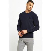 Lacoste Sportswear Crew Neck Jumper, Navy, Size 3, Men