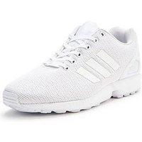 adidas Originals ZX Flux, White/White, Size 11, Men