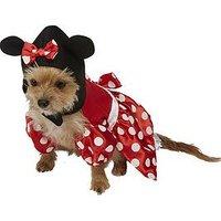 Minnie Mouse Minnie Mouse Dog Fancy Dress Costume, One Colour, Size S, Women
