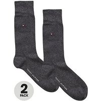 Tommy Hilfiger 2pk classic sock, Anthracite, Size 6-8, Men