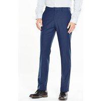V by Very Slim Trouser, Blue, Size 36, Length Regular, Men