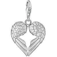 Thomas Sabo Sterling Silver Charm Club Angel Wings Heart Charm, One Colour, Women