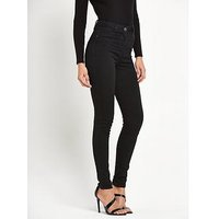 V by Very Addison High Waisted Super Skinny , Clean Black, Size 24, Women