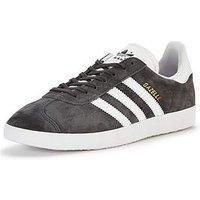 adidas Originals Gazelle, Dark Grey, Size 8, Women