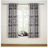Catherine Lansfield Ombre Damask Lined Eyelet Curtains