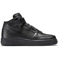 Nike Air Force 1 '07 Mid, Black, Size 4, Women