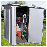 Product photograph showing Yardmaster 3 9 X 5 2ft Single Door Metal Pent Roof Shed