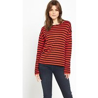 Boss Orange Tibow Stripe Jersey Top, Multi, Size Xs, Women