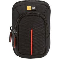 Case Logic Nylon Camera Case, Small W/ Accessory Pocket, Black/Red