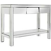Product photograph showing Monte Carlo Mirrored Console Table