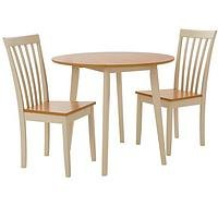 Very Molly 90Cm Drop Leaf Dining Table + 2 Chairs KJ7QE