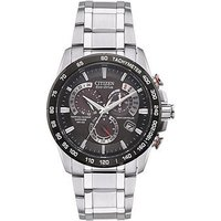 Citizen Eco-Drive Perpetual Chrono A.T. Radio-Controlled Bracelet Mens Watch, Men