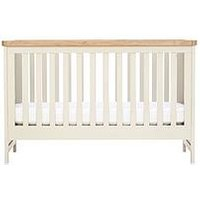 Mothercare Lulworth Cot Bed - White Pepper, One Colour