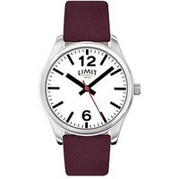 Limit White Dial Bergundy Leather Strap Ladies Watch, One Colour, Women