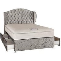 Luxe Collection From Airsprung Marilyn 1000 Pocket Pillow Top Divan With Storage Options (Includes Headboard!)