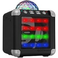 Easy Karaoke Idance Cm3 Cude Mini 3, Bluetooth Party System With Built In Light Show- Black