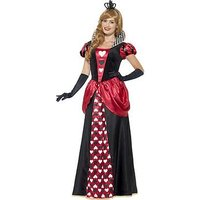 Royal Red Queen Dress & Crown - Adults Costume, One Colour, Size S, Women