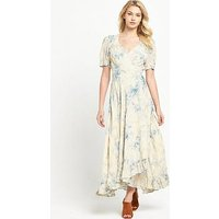Denim & Supply - Ralph Lauren Wrap Tie Maxi Dress - Coral Harbour Floral, Coral Harbour Floral, Size 10=S, Women