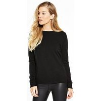 V by Very Super Soft Jumper, Black, Size 20, Women