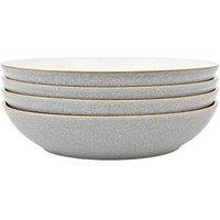 Denby Elements 4-Piece Pasta Bowl Set - Light Grey