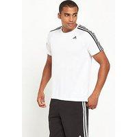 adidas 3S D2M T-Shirt, White, Size M, Men