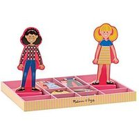 Melissa & Doug Abby & Emma Magnetic Wooden Dress-Up Dolls, One Colour