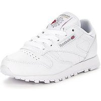 Reebok Classic Leather Childrens Trainer, White, Size 1