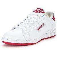 Reebok NPC II UN Stripes Junior, White/Pink, Size 5.5